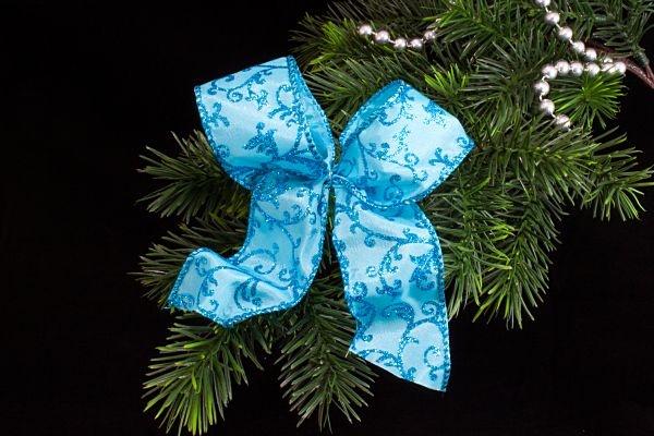 Weihnachtsschleife Christbaumschleife in türkis