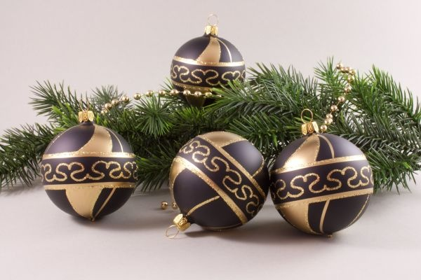 schwarz gold christbaumschmuck christbaumschmuck und weihnachtskugeln aus glas. Black Bedroom Furniture Sets. Home Design Ideas