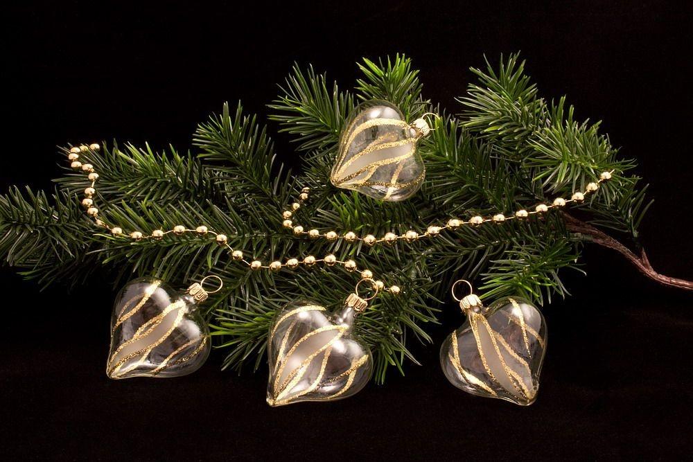 4 Herzen transparent gold gst