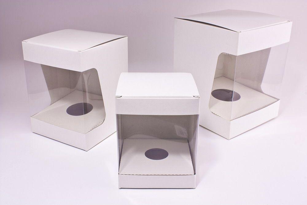 edle weiße Kartons für Weihnachtskugeln Ø 8cm