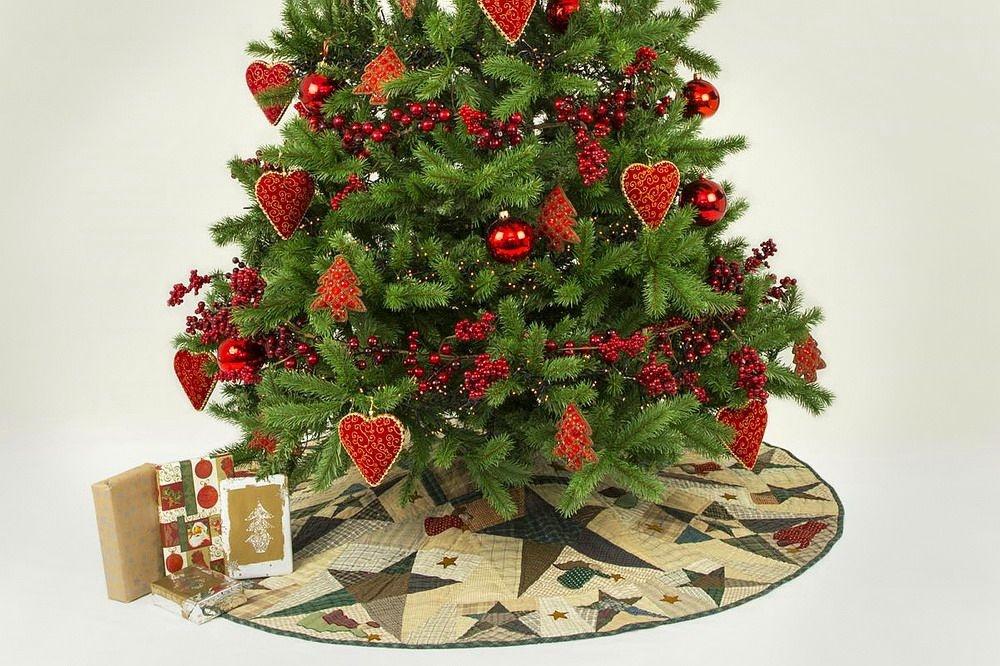 Baumdecke für den Weihnachtsbaum Engel & Sterne