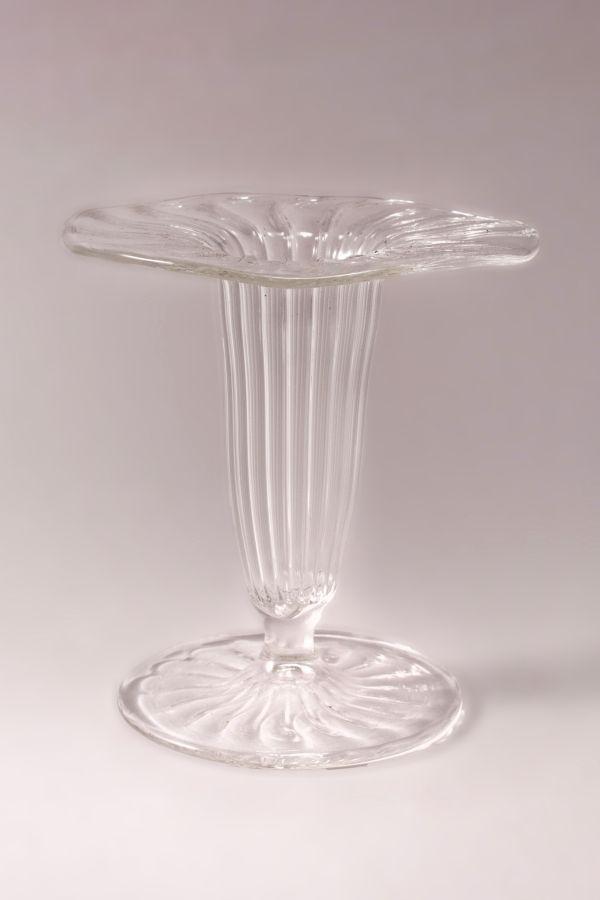 Mini-Vase aus Glas für Bowlespieße transparent