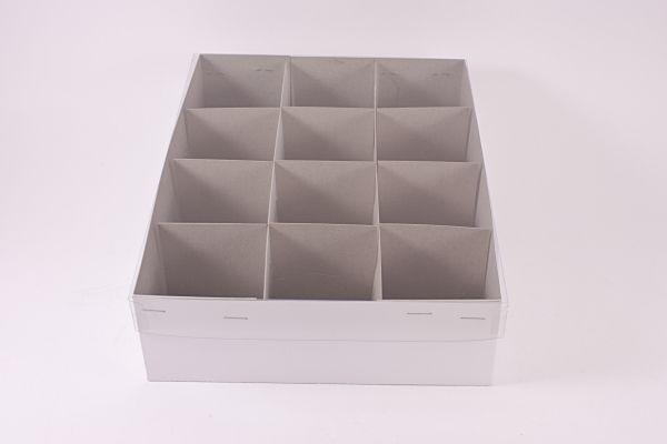 Ersatzkarton / Pappkarton für 12 Weihnachtskugeln bis Ø 6cm