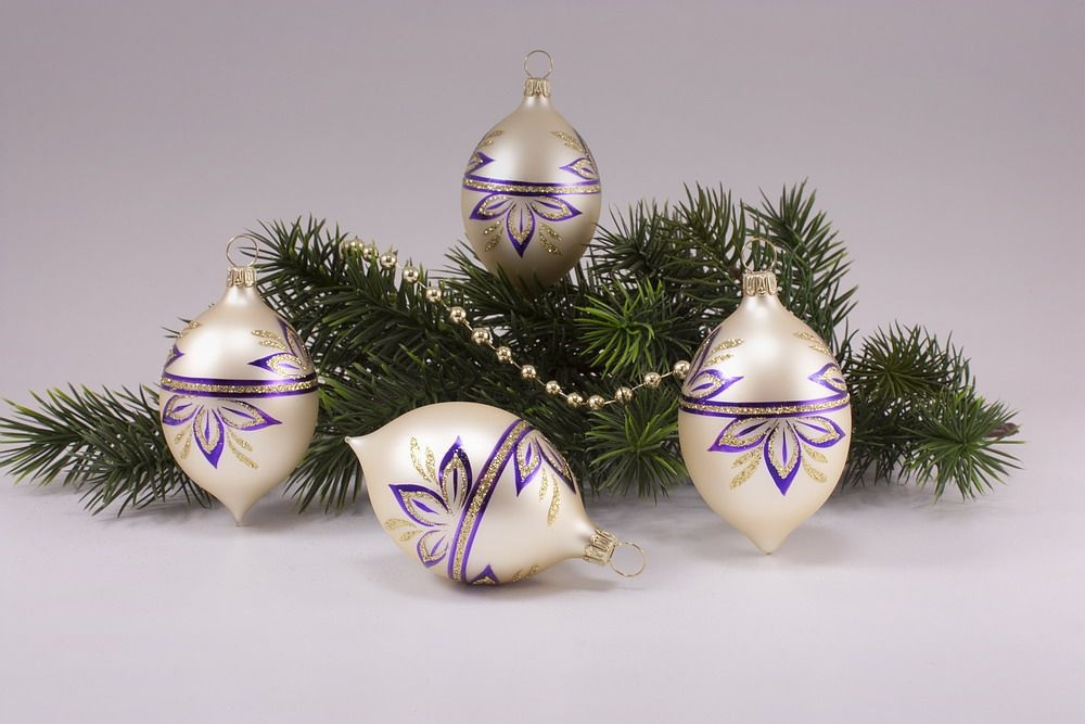 4 Zitronen Champagner matt halbe Blume violett