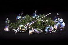 Weihnachtskugeln aus Glas wie Seifenblasen