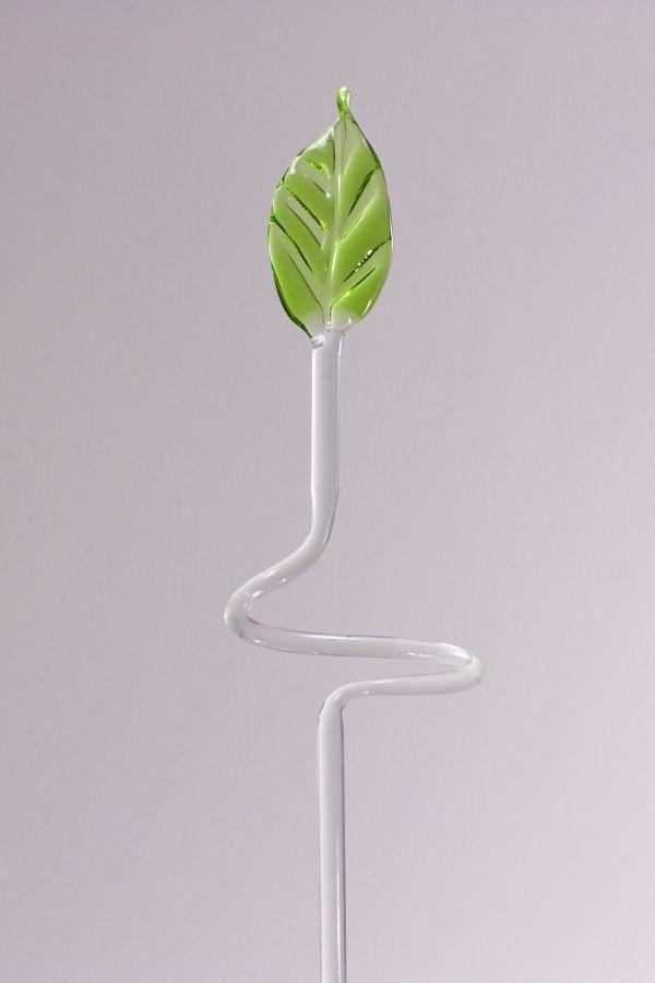 kleiner Orchideenstab ca. 30 cm mit grünem Blatt