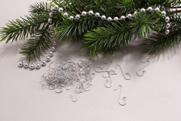 Schnellaufhänger für Christbaumschmuck Farbe Silber