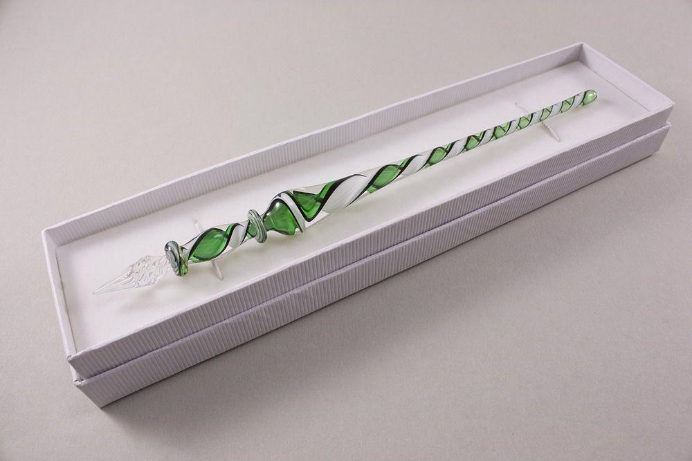 Glasschreiber grün weiß schwarz transparent