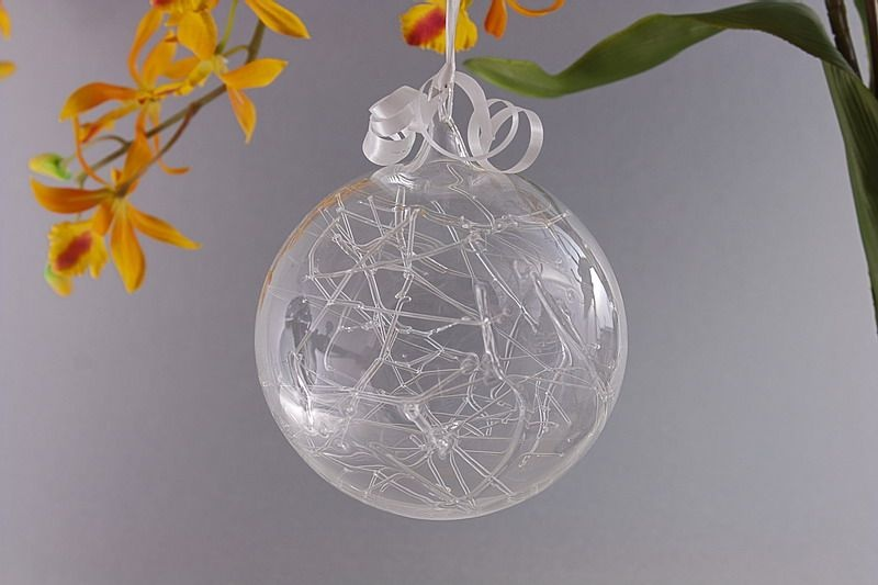 Traumkugel aus Glas 7cm transparent