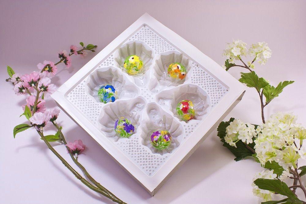 6 Mini-Glaskugeln 3 cm im Set