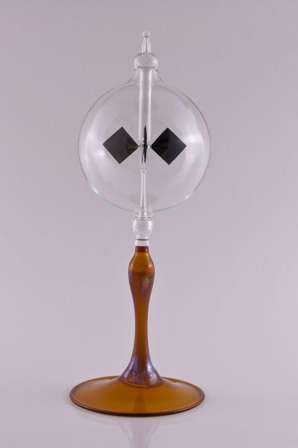 Lichtmühle Radiometer 8cm mit Fuß braun