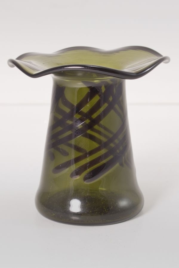Mini-Vase aus Glas für Fruchtspieße grün