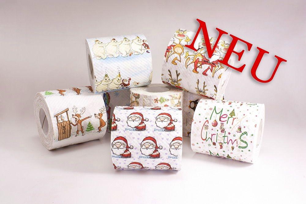 exklusives Toilettenpapier mit Weihnachtsmotiv