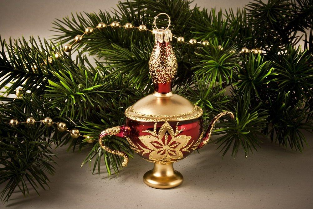 Aladin-Lampe Stierglanz mit Christrose