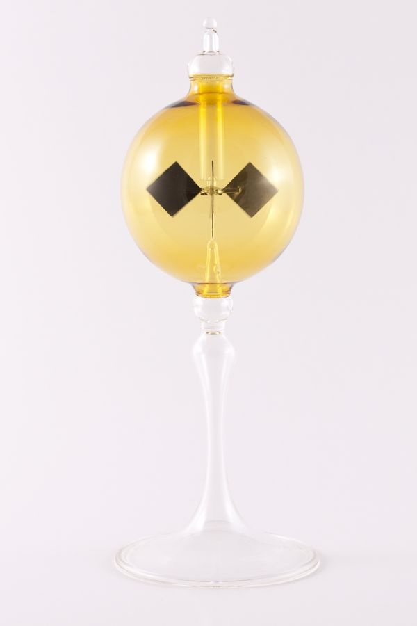gelbe Lichtmühle Radiometer stehend 8cm transparent