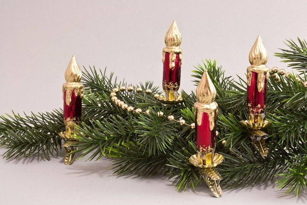 4 Kerzen Stierglanz mit Goldbronze
