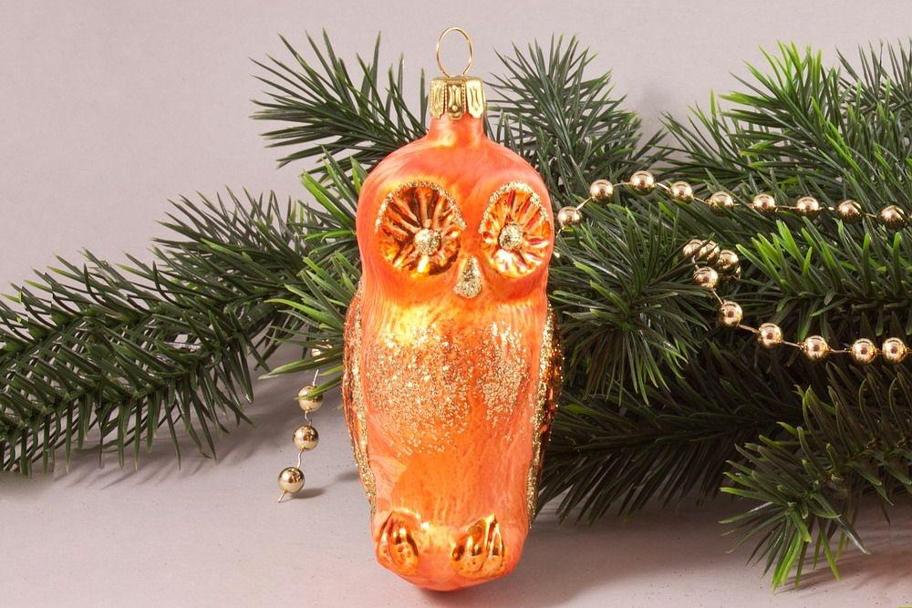 1 Eule Eis-orange 10 cm x 4 cm