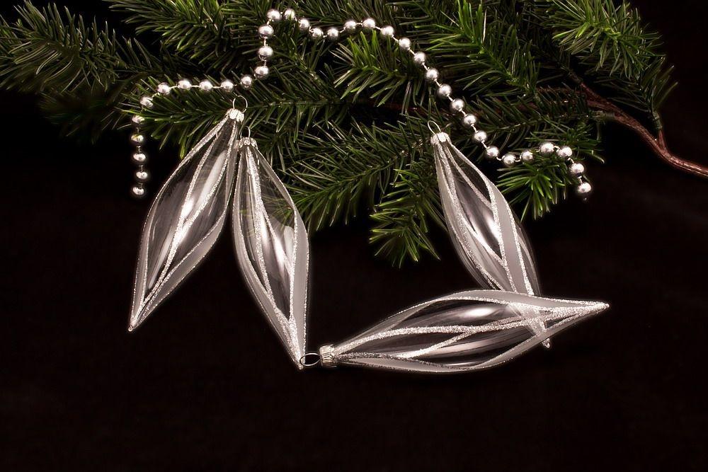 4 Oliven transparent silber gst