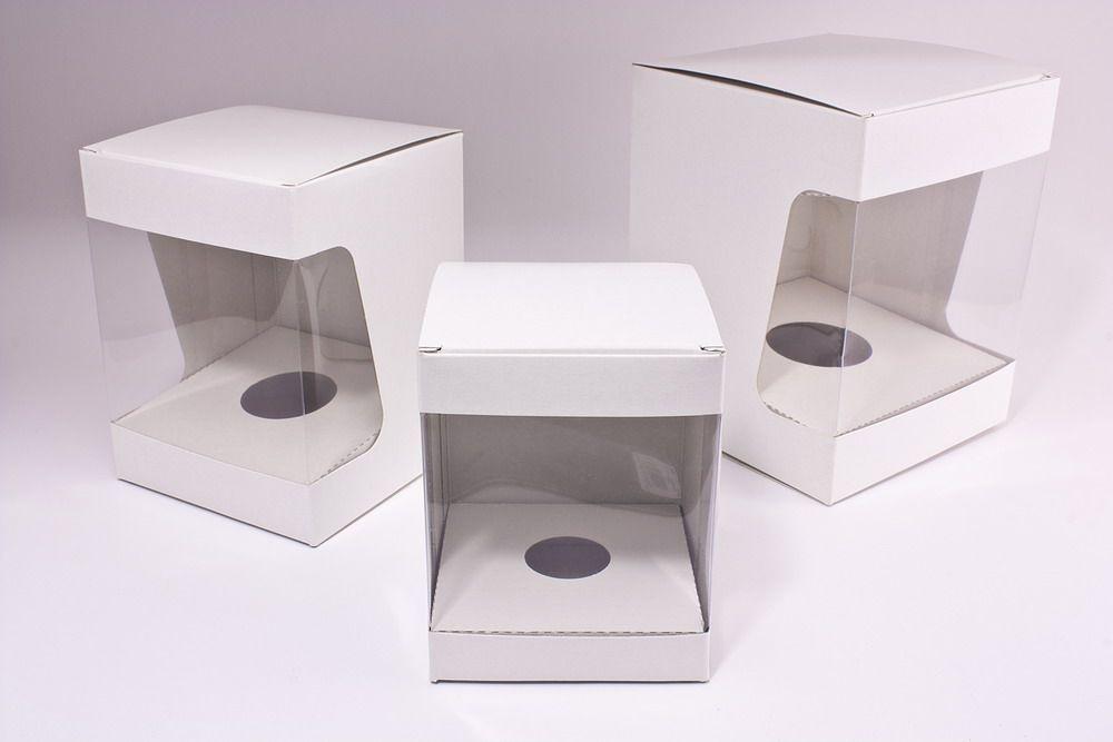 edle Kartons für Weihnachtskugeln Ø 10cm weiß