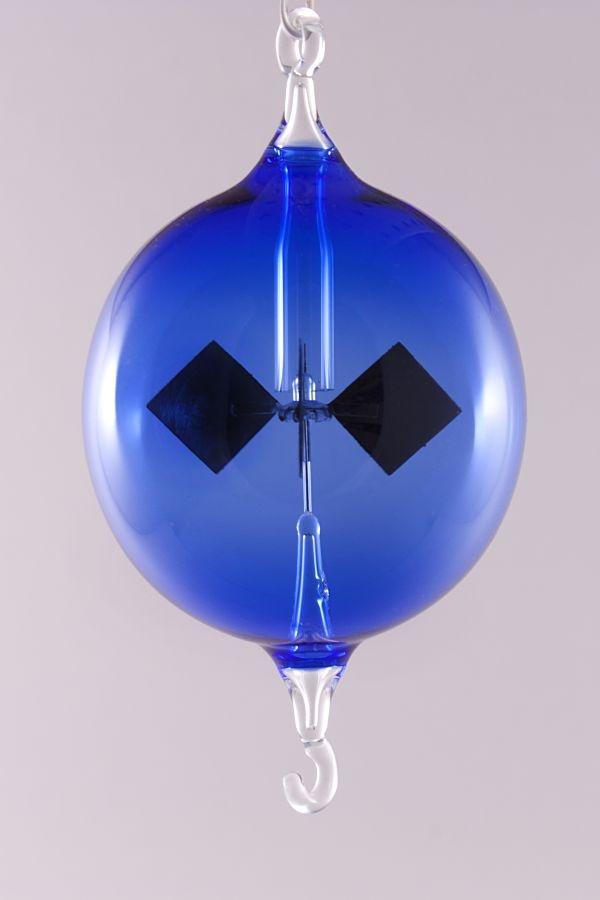 Lichtmühle Radiometer hängend 6 cm blau