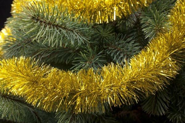 Girlande für den Weihnachtsbaum gold 50mm x 3m