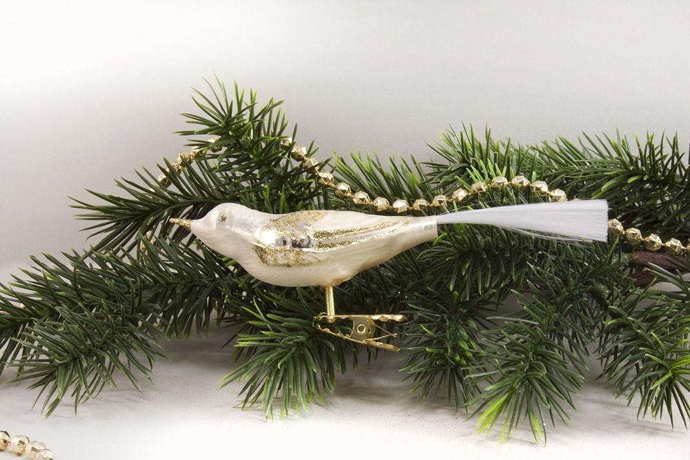 1 Vogel Eis - champagner mit gold