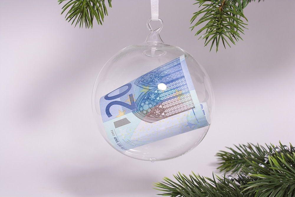 Geldkugel Geldschein-Kugel 10cm aus Glas