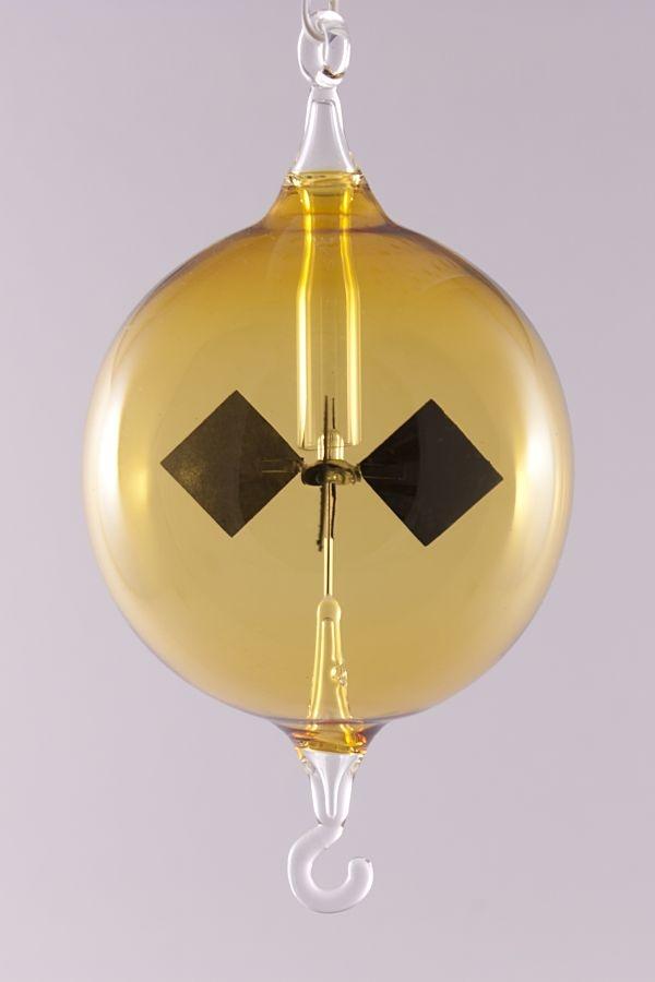 Lichtmühle Radiometer hängend 6 cm gelb