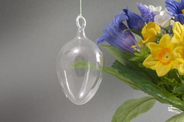 12 Glasostereier ca. 5 cm zum selber bemalen im Set