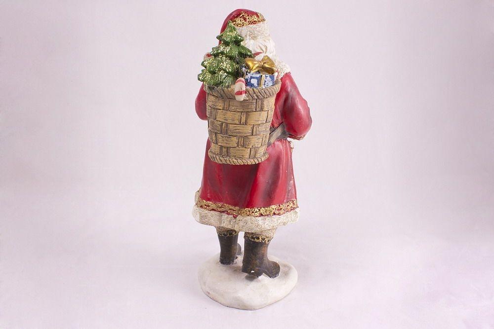 Beeindruckender Weihnachtsmann Mit Hase Uns Vogel