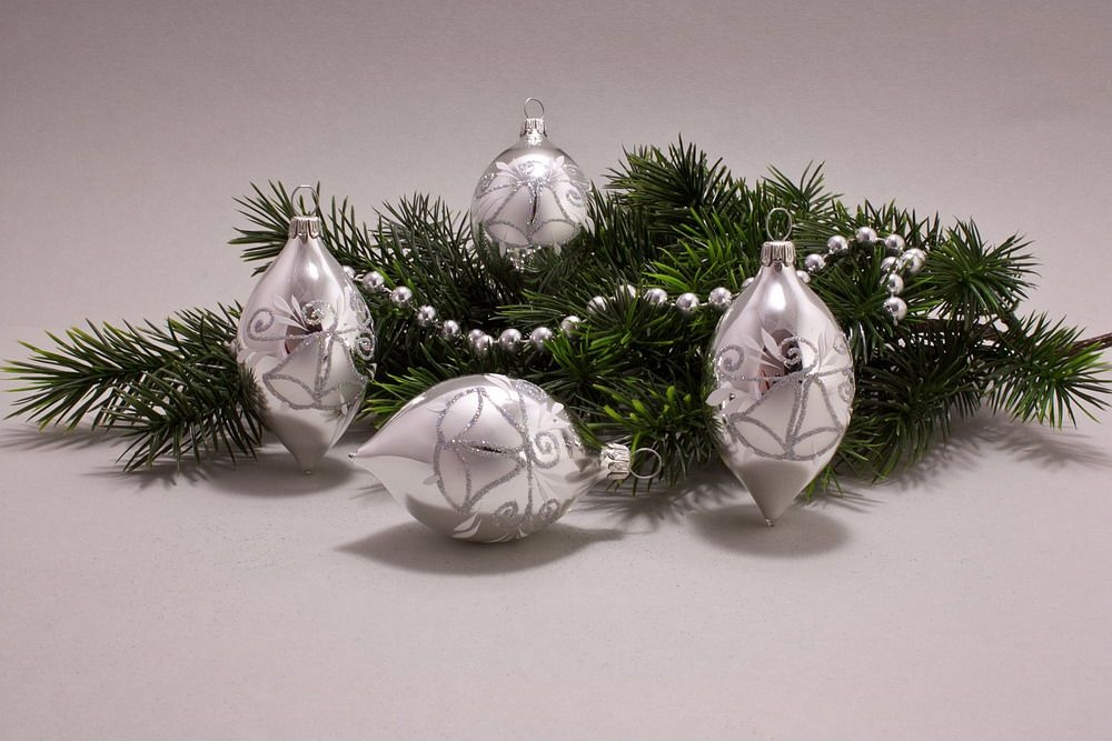 4 Zitronen Silber Glanz mit Glöckchen und Iris-Glitter