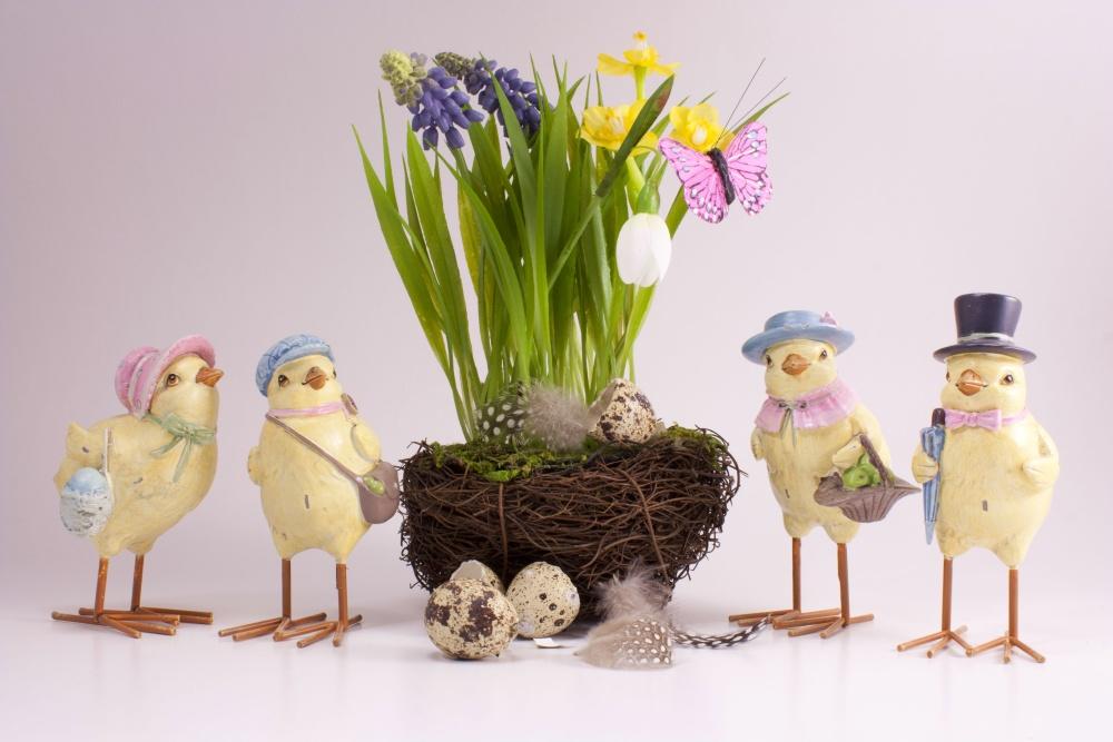 Vogelgruppe im antiken Style