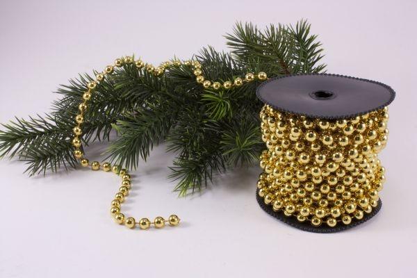 Perlenschnur gold 10m x 8mm