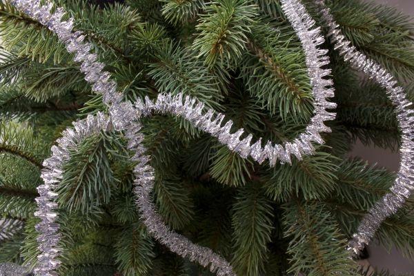 Spirale für den Weihnachtsbaum silber 3m x 15mm