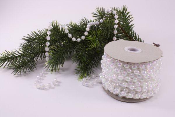 Christbaumkugeln Perlmutt.Perlenschnur Perlmutt Optik Irisierend 10m X 8mm Weihnachtsdekoration Nicht Nur Für Den Christbaum