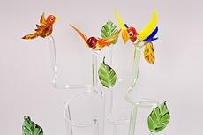 Orchideenstäbe aus Lauschaer Glas