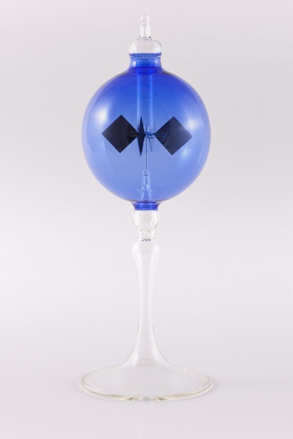 blaue Lichtmühle Radiometer stehend 8cm transparent