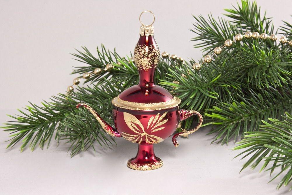 Aladinlampe Stierglanz mit goldener Schleife