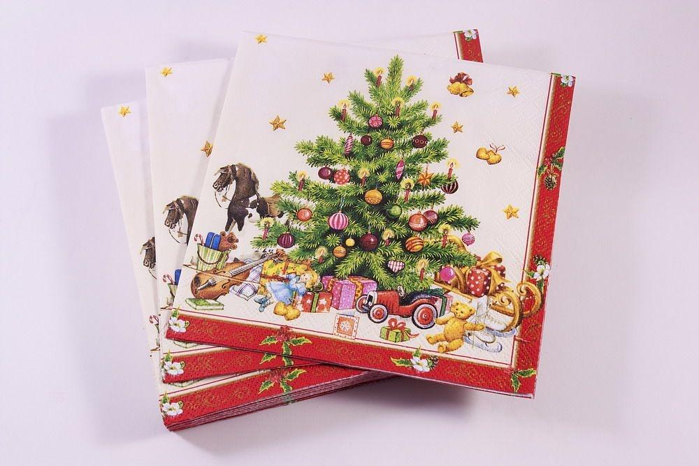 Weihnachtsservietten im Großpack Tannenbaum