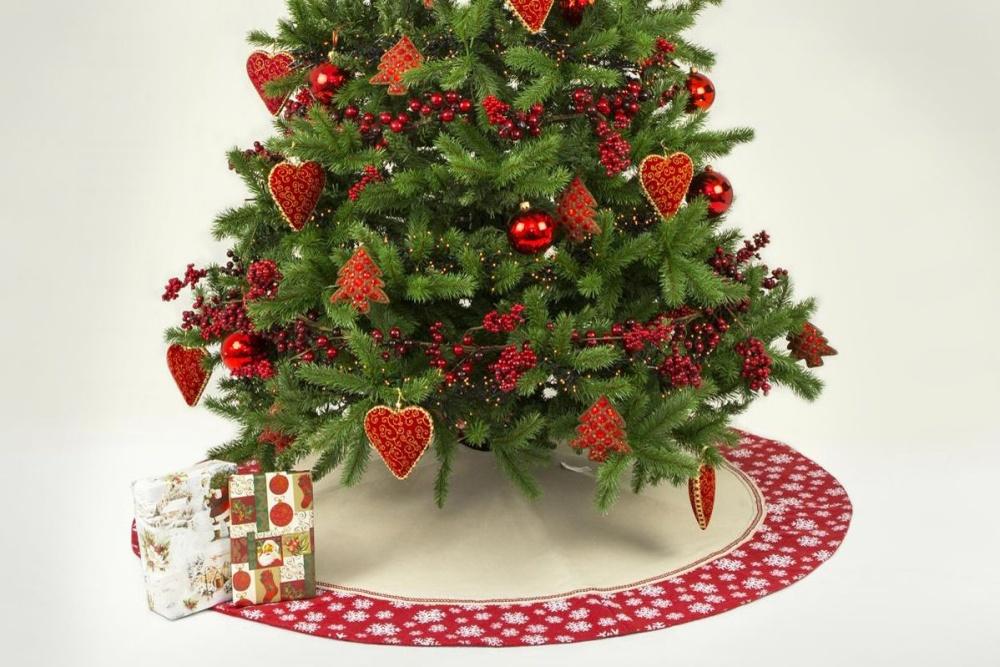 baumdecke f r den weihnachtsbaum schneeflocke. Black Bedroom Furniture Sets. Home Design Ideas