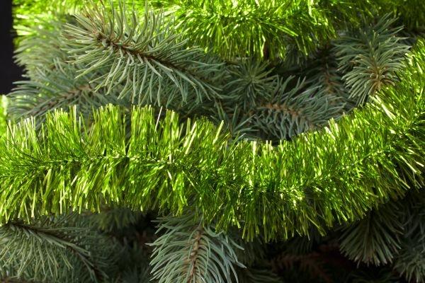 Girlande für den Weihnachtsbaum apfelgrün 50mm x 3m