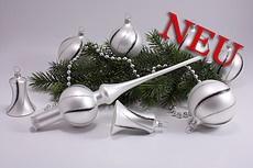 Weihnachtskugeln weiß matt schwarz