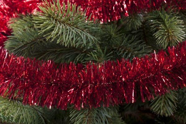 Girlande für den Weihnachtsbaum rot 50mm x 3m