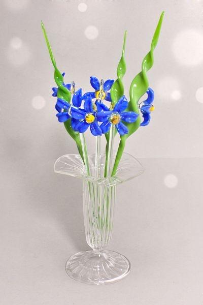Bowlespieße 10teilig Blaustern im Set mit gedrehtem Blatt