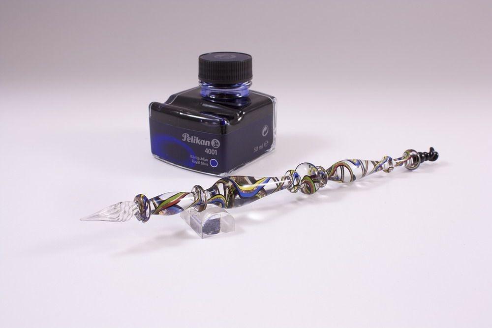 Geschenkset mit Glasschreiber de luxe bunt transparent