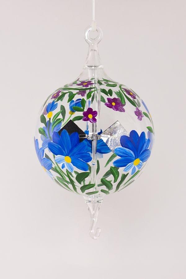 Lichtmühle Radiometer hängend 6 cm blaue Blume
