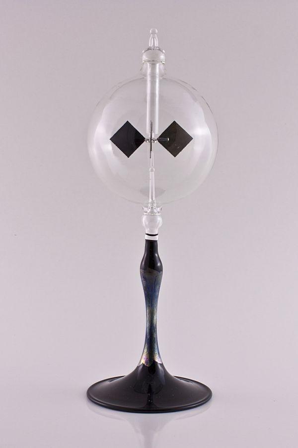 Lichtmühle Radiometer 8cm mit Fuß schwarz