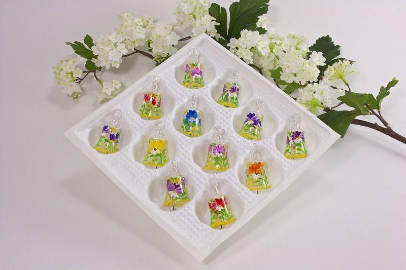 Mini Weihnachtskugeln.Mini Glöckchen 3 Cm Im Set 6 Stück Sommer Dekoration Blumenkugeln