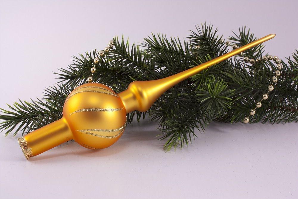 Christbaumspitze gold matt