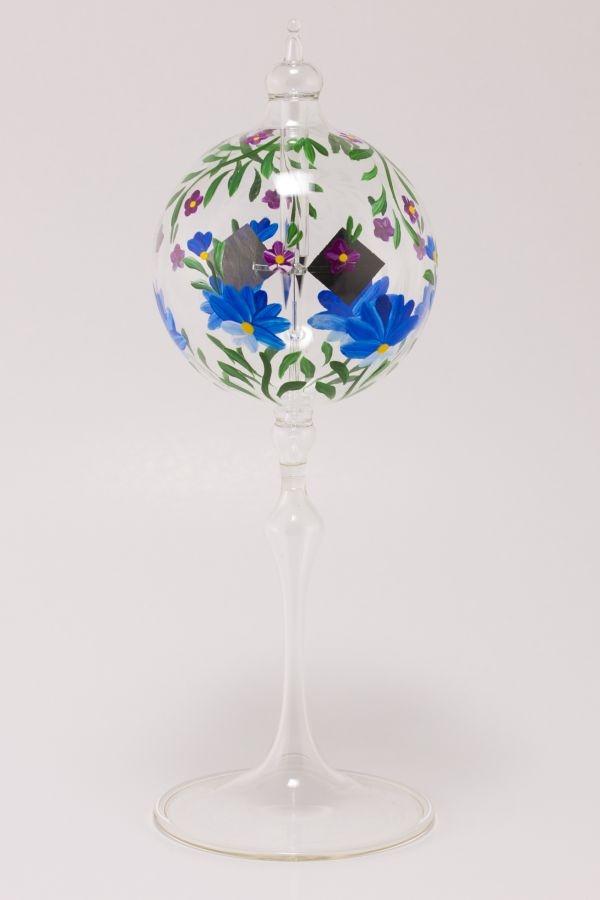 Lichtmühle Radiometer stehend 8cm blaue Blume